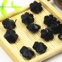 Beads, Selenial Crystal, Crystal, Black , Flower shape, 14mm x 14mm x 7mm, 1 Bead, [ZZE0002]
